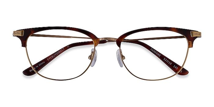 Tortoise Bronze Fanfare -  Acetate Eyeglasses