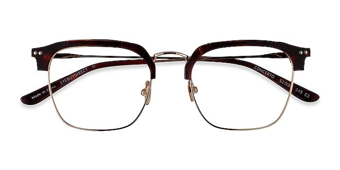 Tortoise Gold Concerto -  Acetate Eyeglasses