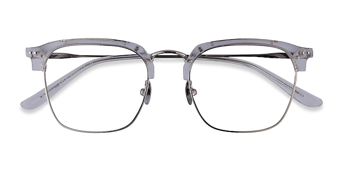 Clear Silver Concerto -  Acetate Eyeglasses