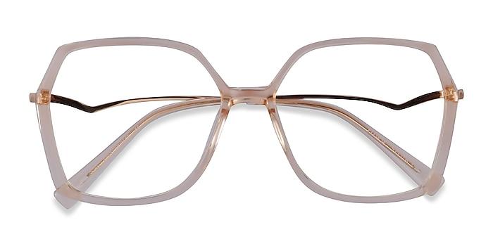Clear Yellow Ellipse -  Acetate Eyeglasses