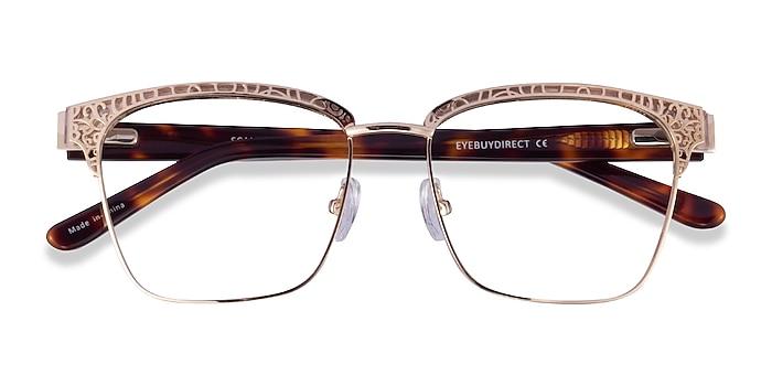 Gold Tortoise Scale -  Acetate Eyeglasses