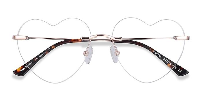 Rose Gold Amore -  Fashion Metal Eyeglasses
