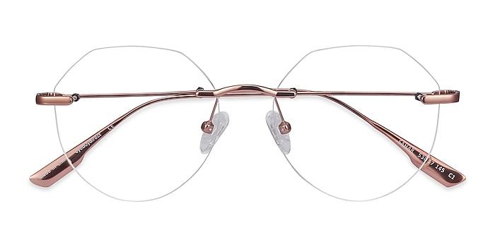 Rose Gold Sahar -  Fashion Metal Eyeglasses