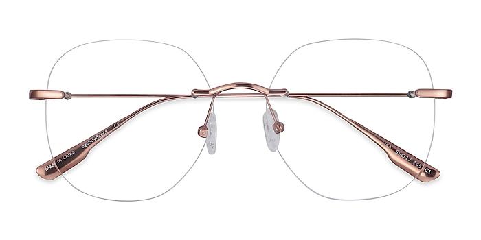 Rose Gold Lisa -  Fashion Metal Eyeglasses