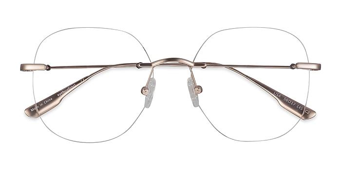 Gold Lisa -  Fashion Metal Eyeglasses