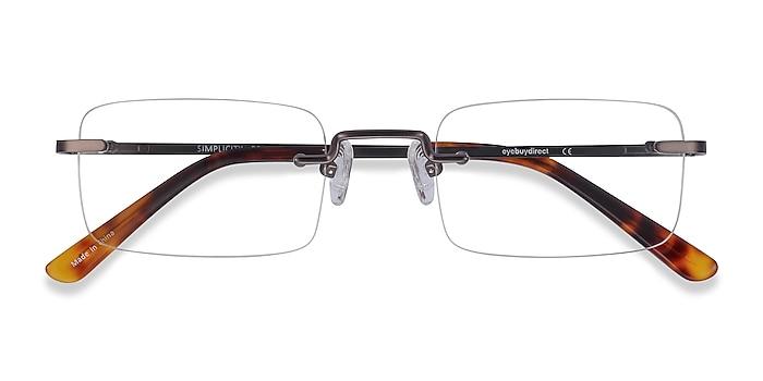 Gunmetal Simplicity -  Metal Eyeglasses