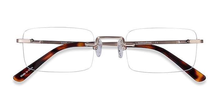 Gold Simplicity -  Fashion Metal Eyeglasses