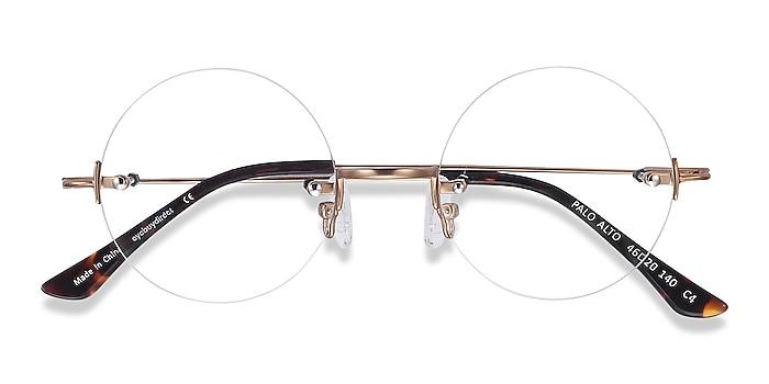 Golden Palo Alto -  Vintage Metal Eyeglasses