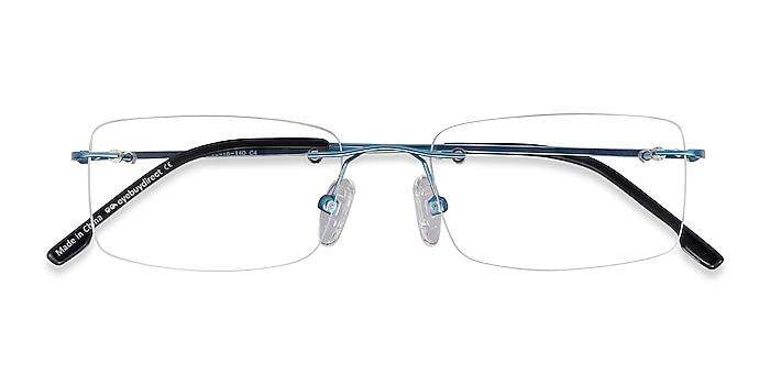 Blue Woodrow -  Lightweight Metal Eyeglasses