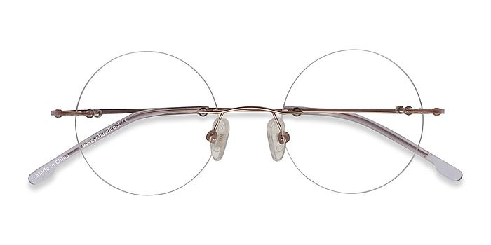 Rose Gold Altus -  Vintage Metal Eyeglasses