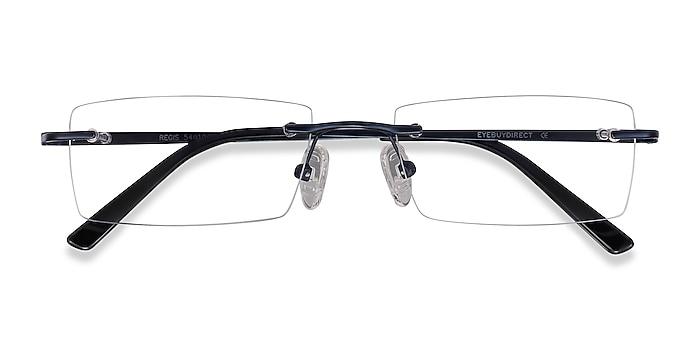 Blue Regis -  Lightweight Metal Eyeglasses