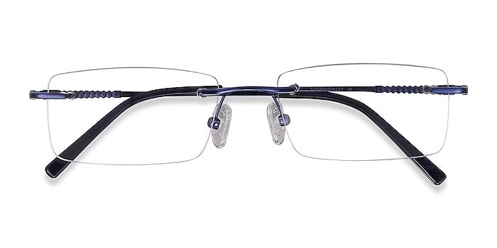 Navy Earl -  Metal Eyeglasses