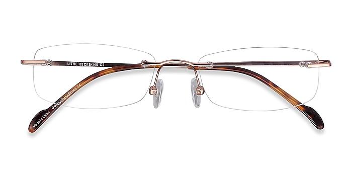 Rose Gold Lithe -  Lightweight Metal Eyeglasses