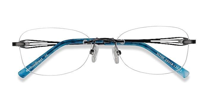 Black Scene -  Lightweight Metal Eyeglasses