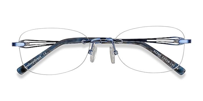 Blue Scene -  Lightweight Metal Eyeglasses