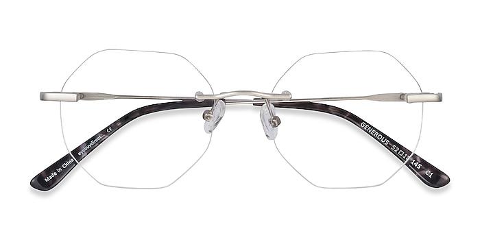 Matte Silver Generous -  Lightweight Metal Eyeglasses