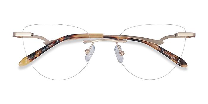 Matte Gold Harmony -  Lightweight Metal Eyeglasses