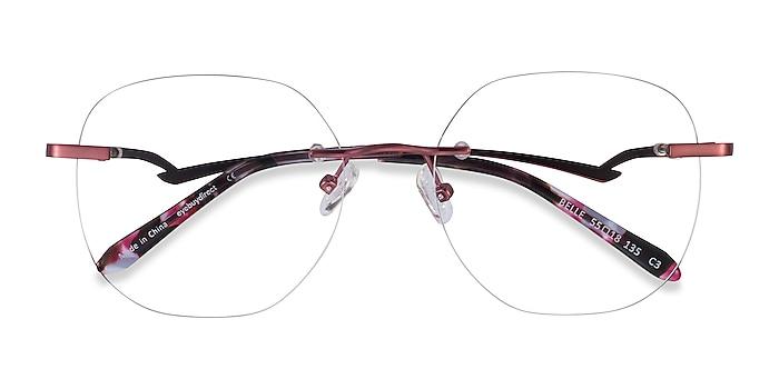 Burgundy Belle -  Vintage Metal Eyeglasses