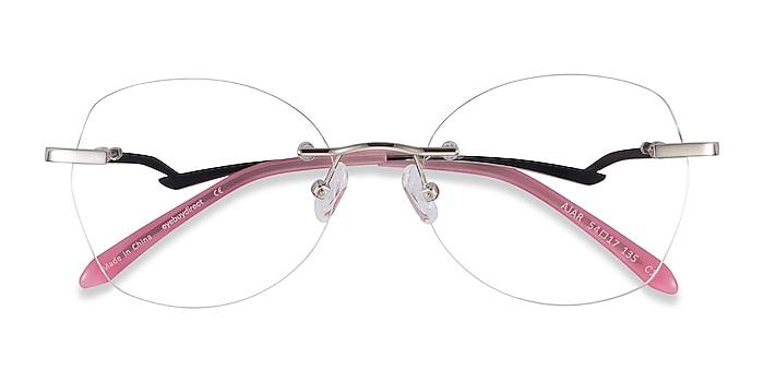 Silver Ajar -  Vintage Metal Eyeglasses