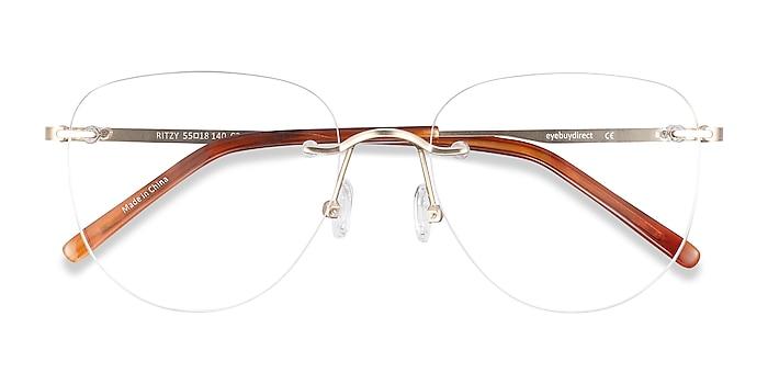 Gold Ritzy -  Metal Eyeglasses