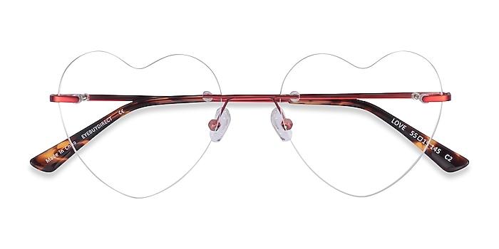 Burgundy Love -  Metal Eyeglasses