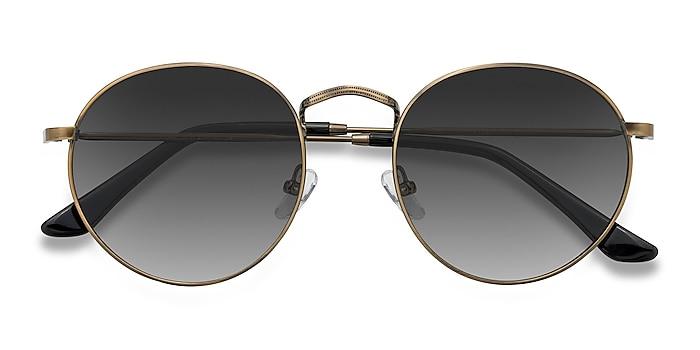 Brown Disclosure -  Vintage Metal Sunglasses