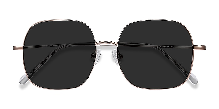 Rose Gold Sun Movement -  Vintage Metal Sunglasses