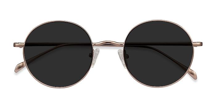 Rose Gold Sun Synapse -  Metal Sunglasses