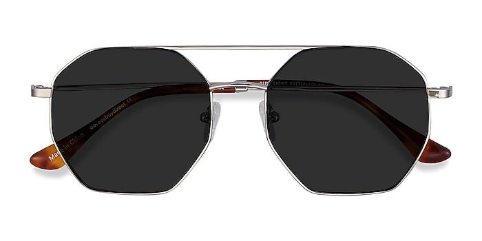 Silver Sun Eight -  Vintage Metal Sunglasses
