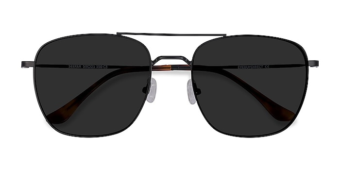 Black Seeker -  Vintage Metal Sunglasses