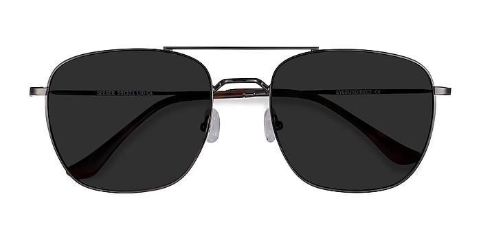 Gunmetal Seeker -  Vintage Metal Sunglasses