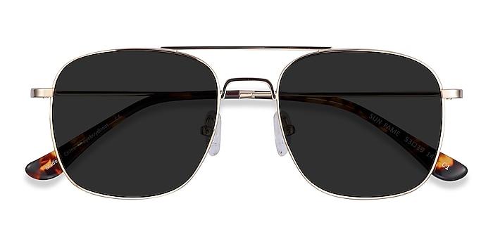 Golden Sun Fame -  Vintage Metal Sunglasses