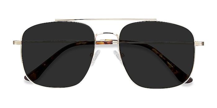 Golden Roadtrip -  Vintage Metal Sunglasses