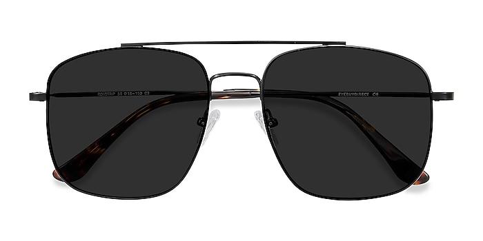 Black Roadtrip -  Vintage Metal Sunglasses