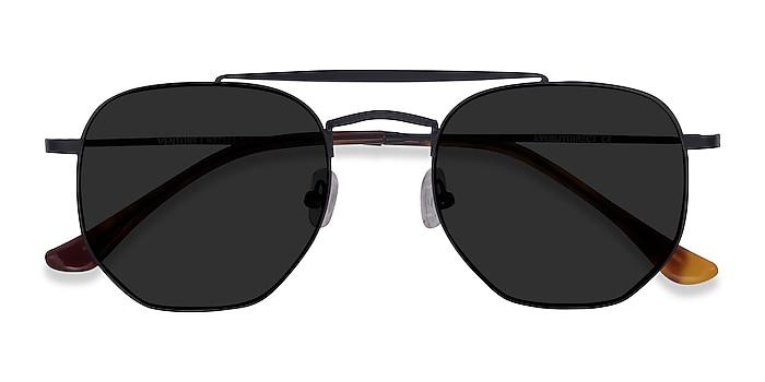 Black Venture -  Vintage Metal Sunglasses