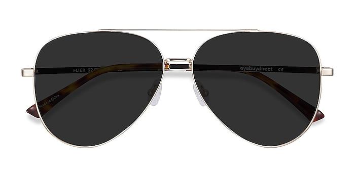 Golden Flier -  Vintage Metal Sunglasses