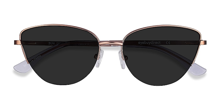 Rose Gold Sun Star -  Metal Sunglasses