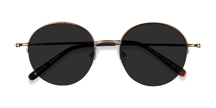 Bronze Sun Albee -  Metal Sunglasses