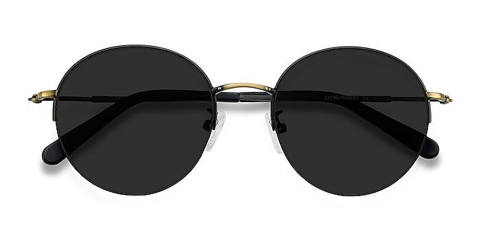 Black Bronze Sun Albee -  Metal Sunglasses