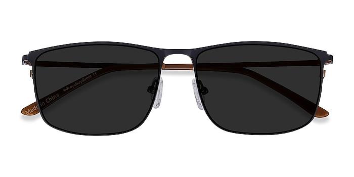 Navy Sun Typha -  Metal Sunglasses