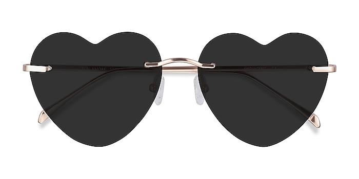 Rose Gold Sun Amore -  Metal Sunglasses