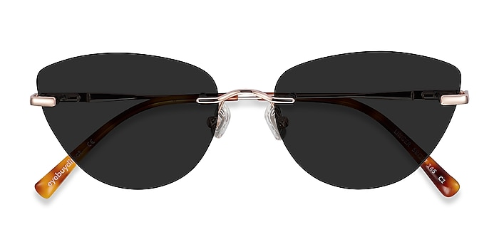 Rose Gold Linger -  Metal Sunglasses