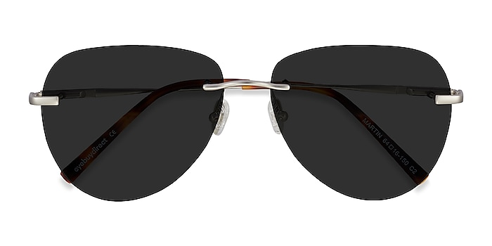 Matte Silver Martin -  Metal Sunglasses