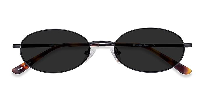 Black Graham -  Vintage Metal Sunglasses