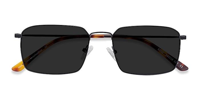 Black Edge -  Metal Sunglasses
