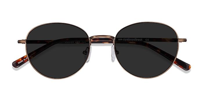 Bronze Span -  Acetate, Metal Sunglasses