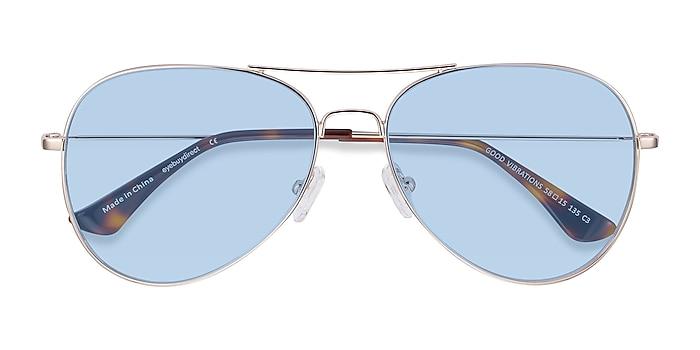 Gold Good Vibrations -  Metal Sunglasses
