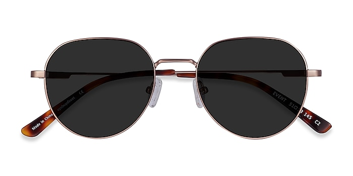 Rose Gold Event -  Metal Sunglasses