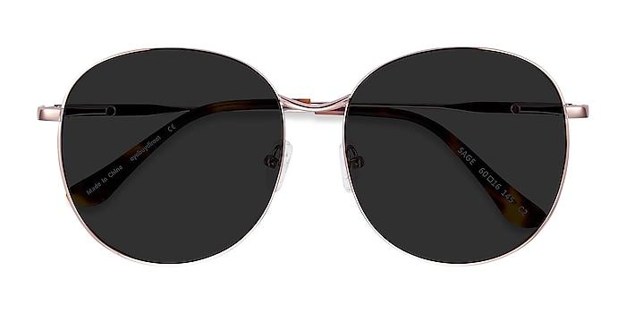 Rose Gold Sage -  Metal Sunglasses