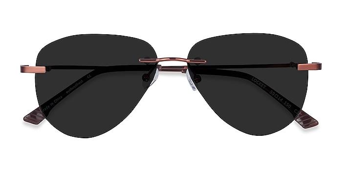 Bronze Locket -  Metal Sunglasses